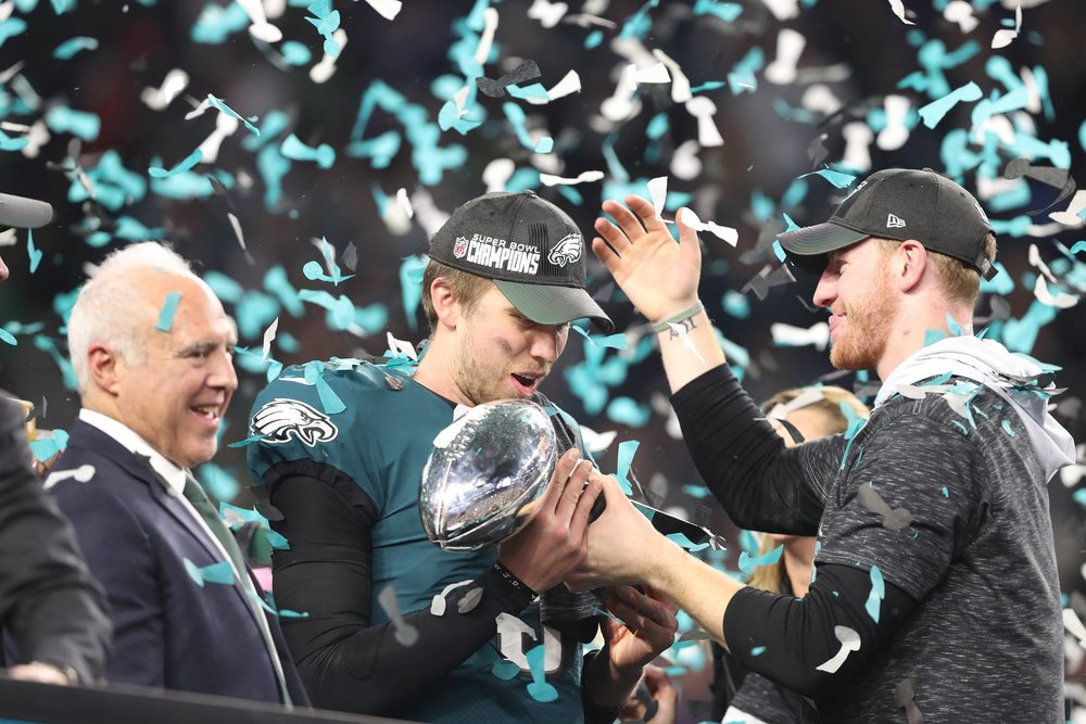 Foles and Wentz Super Bowl Champions