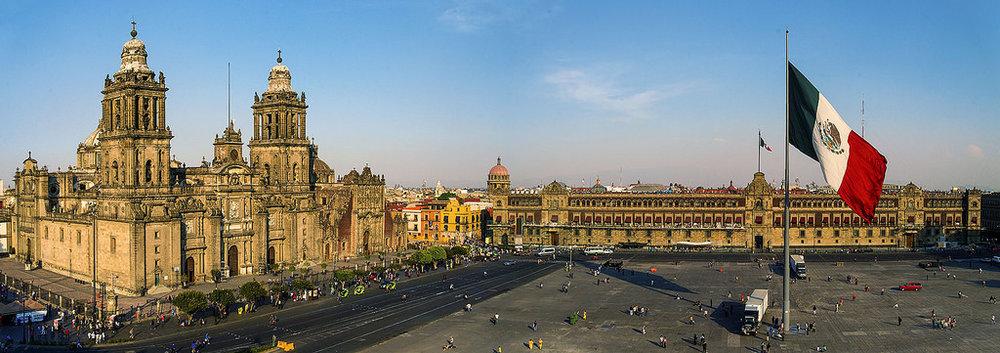 Mexico City Metropolitan Cathedral and Zocalo (Main Square)