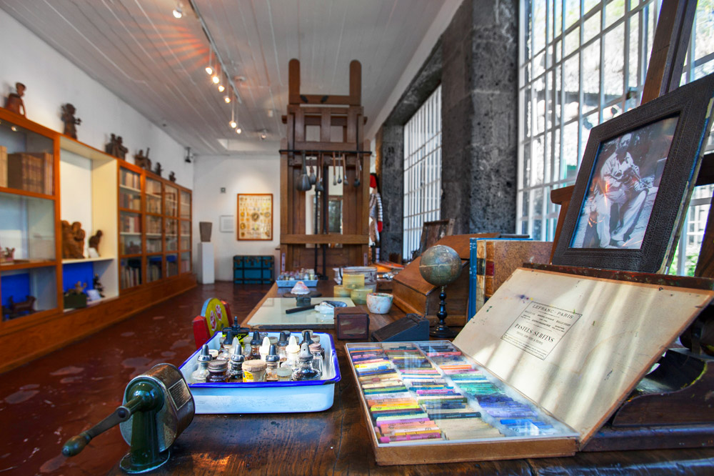 Inside the house and museum of Frida Kahlo
