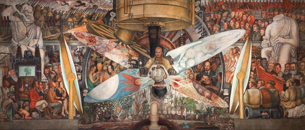 El hombre en la encrucijada por Diego Rivera