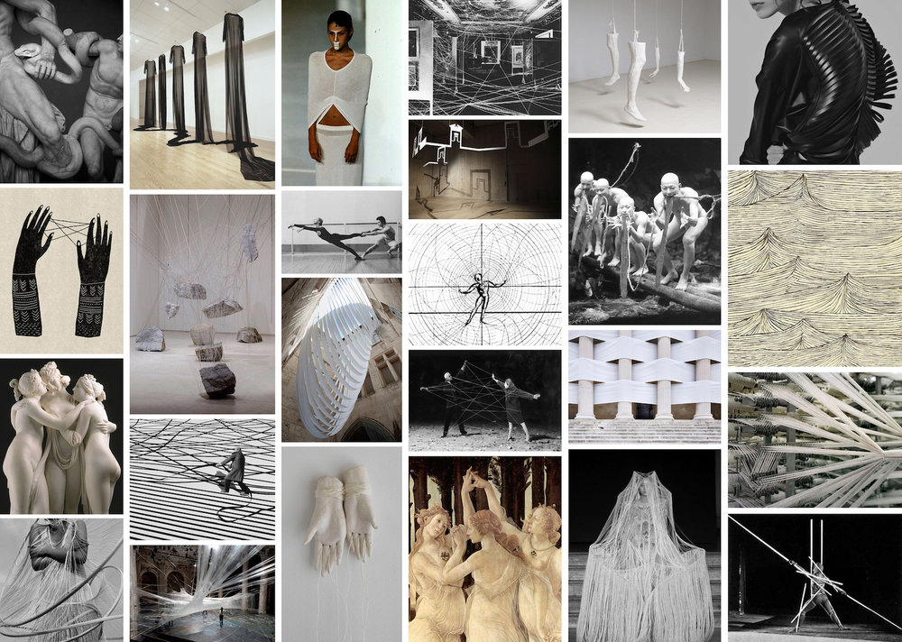 Visual research, various designers and artists