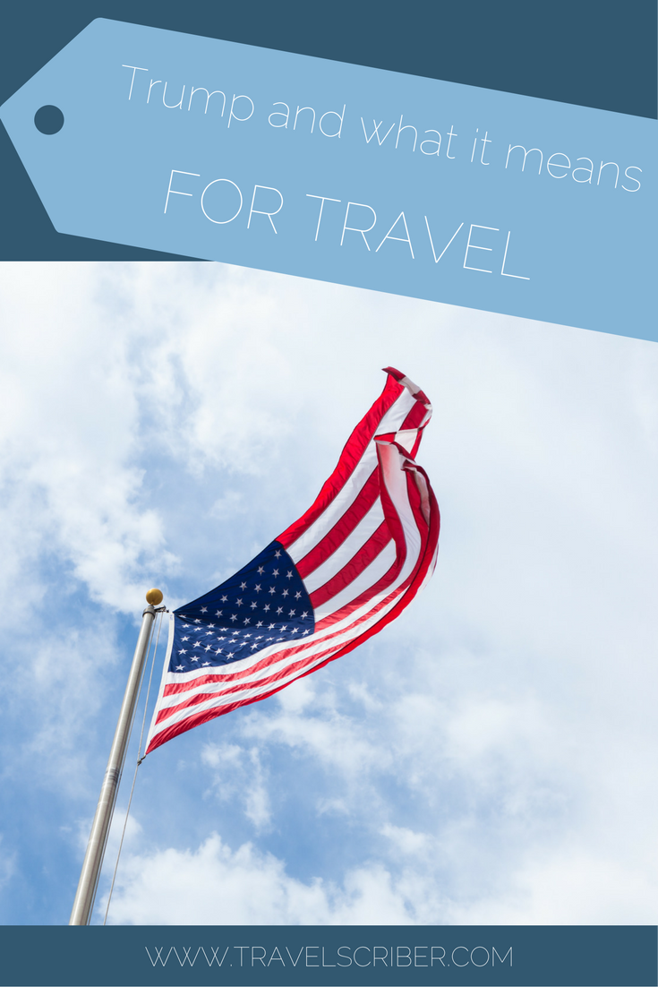 Trump and what it means for travel Pinterest image
