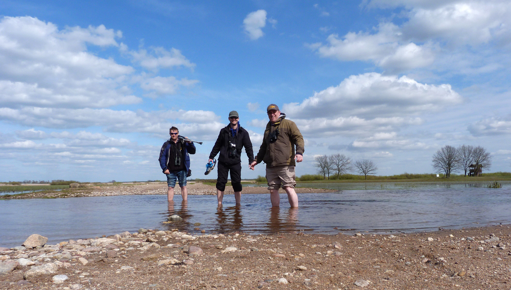 A flooded road cannot stop the BUBO lads from their birding destiny.