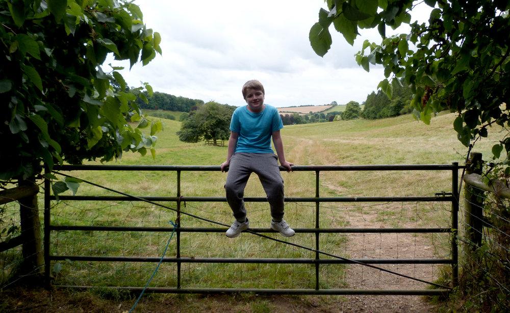 Fields behind Manor Farm, Rockbourne