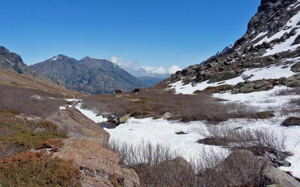 Haute Asco, the snow line