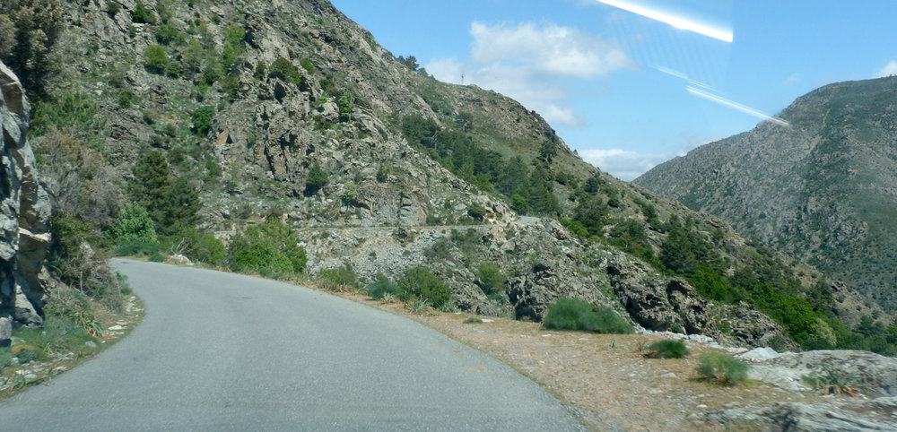 The road down the Asco Valley - GULP!