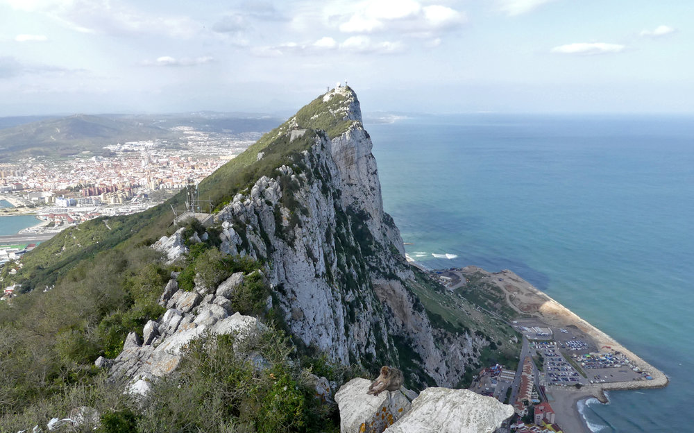 View from the top of the Rock of Gibraltar