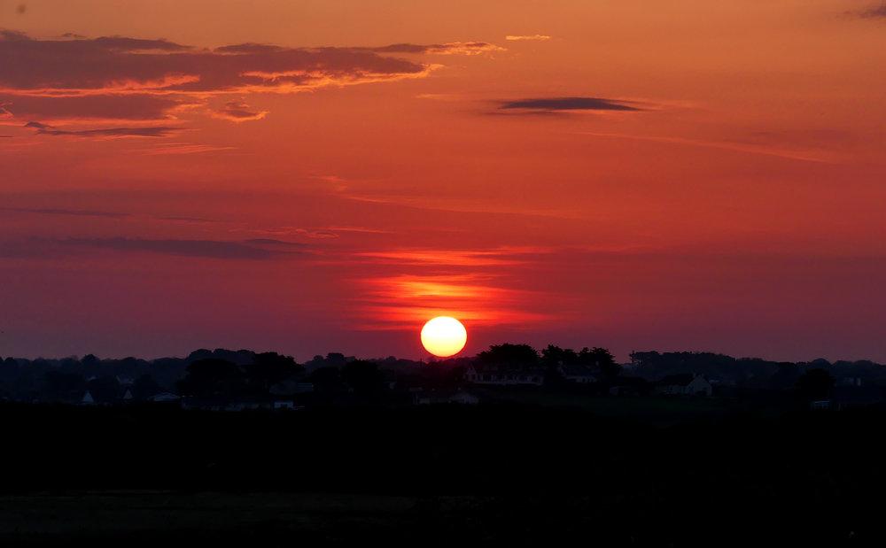 Sunrise from Pleinmont - 21 Apr 18