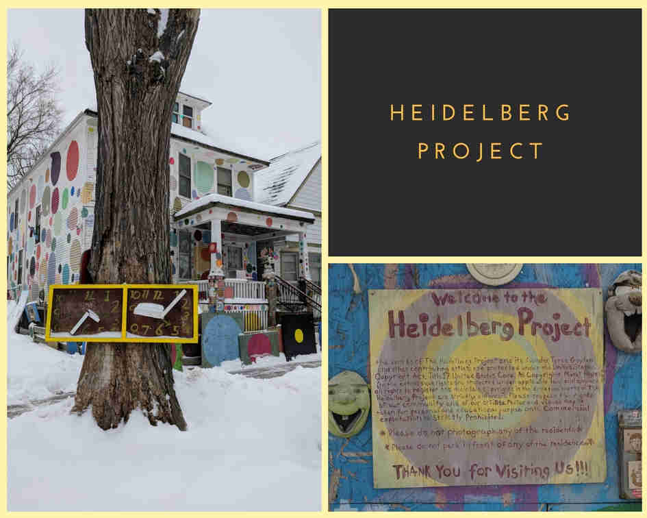 Visiting the Heidelberg Project in the Snow