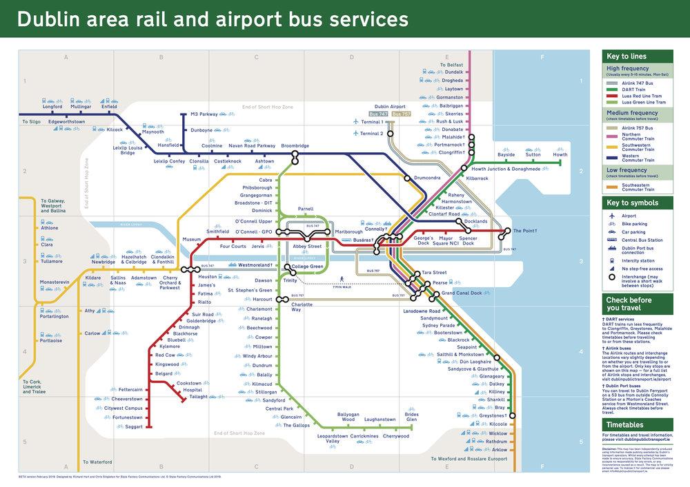 Dublin train map