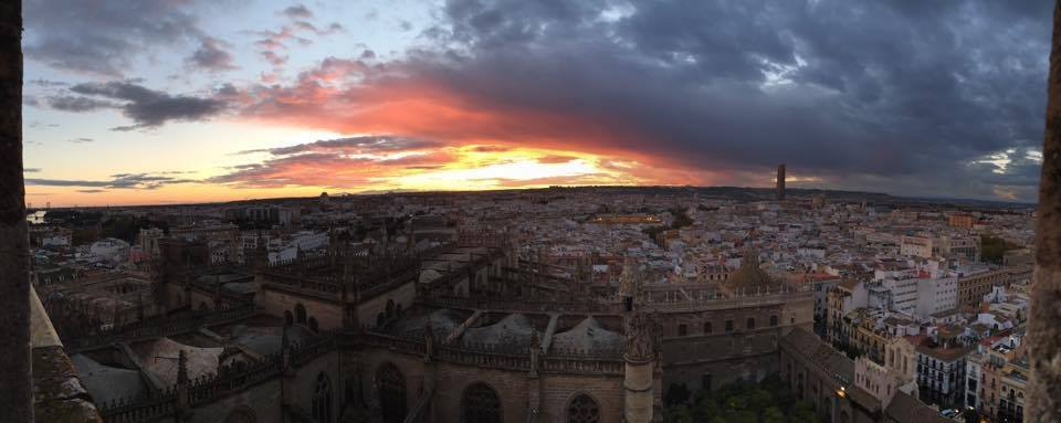 A view of Sevilla from the Cathedral. Photo credit Rebecca Sedillo