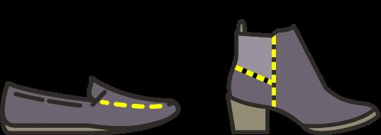 Shoe stitching repairs