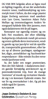 Review in Danish newspaper Politiken (in Danish)