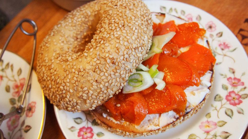 Carrot Lox Bagel