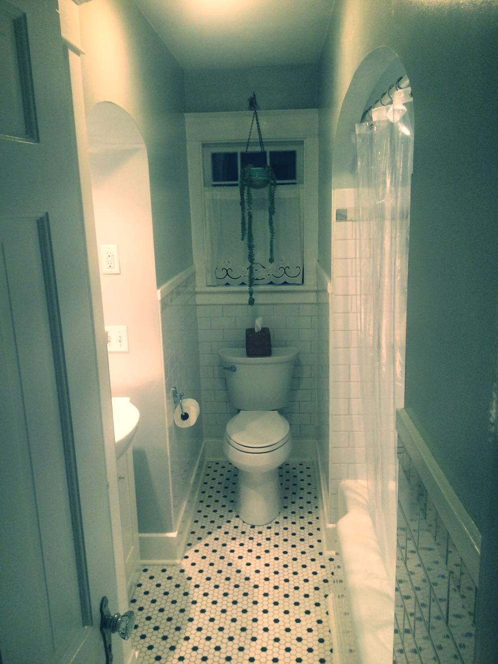 A fully restored bathroom