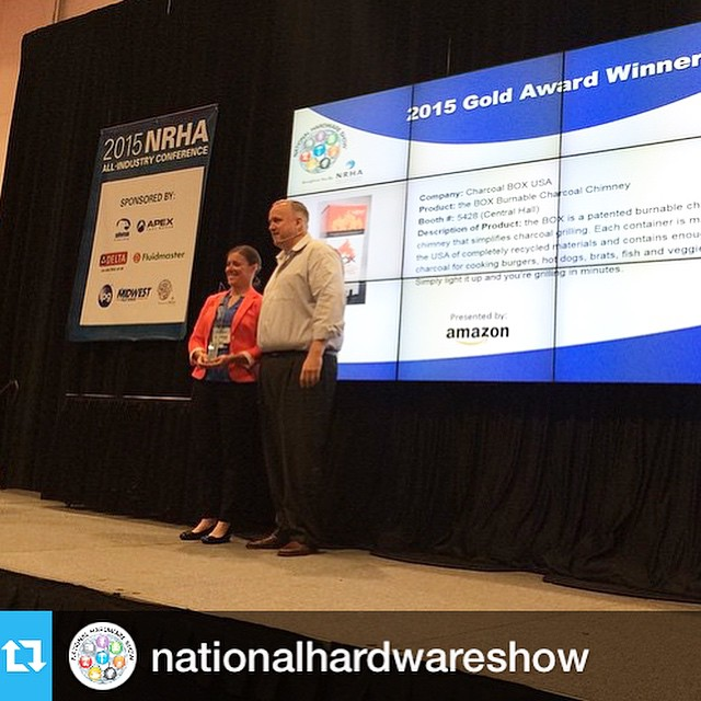So excited about receiving the Gold Award for the 2015 New Product Launch Awards at the @nationalhardwareshow #NHShow