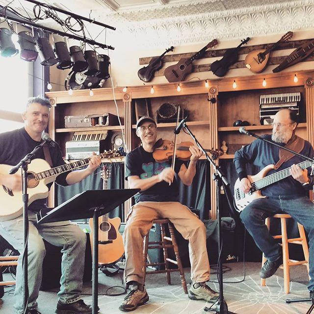 Me, Paul, Galen...Elk River Ramblers at the Purple Fiddle last weekend!