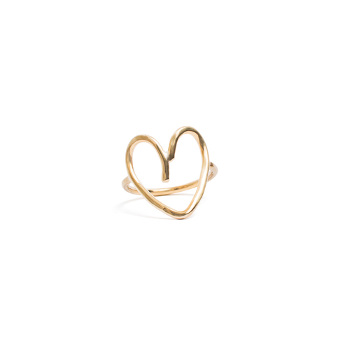 Open Heart Ring in 14k Gold Filled — LORRAINE WEST