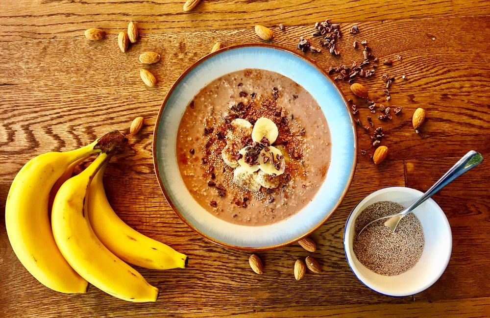 Cacao overnight oats | The Flourishing Pantry | yeast free diet