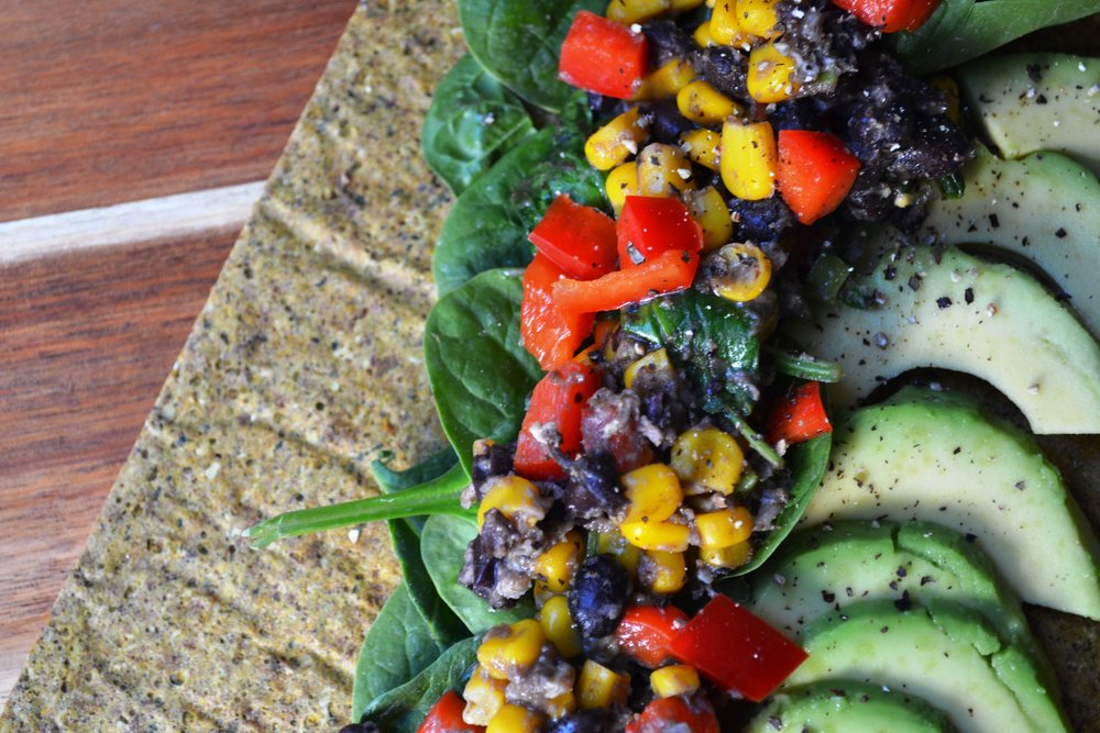 Black bean burritos | The Flourishing Pantry | yeast free diet