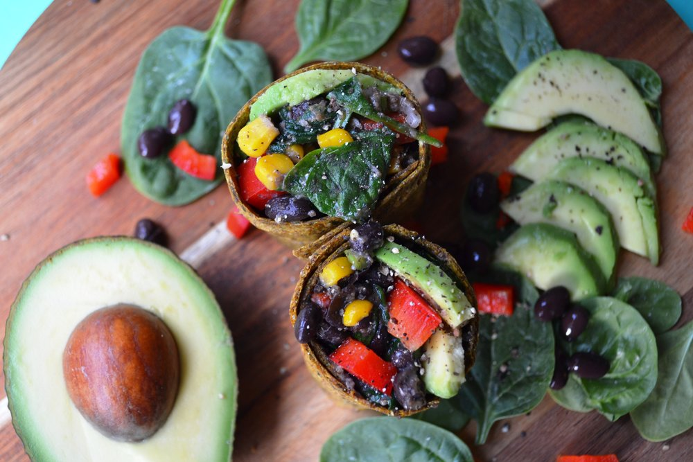 Black bean burrito | The Flourishing Pantry | yeast free diet