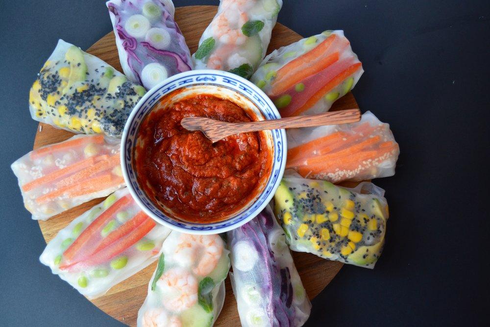 Summer rolls | The Flourishing Pantry | yeast free diet