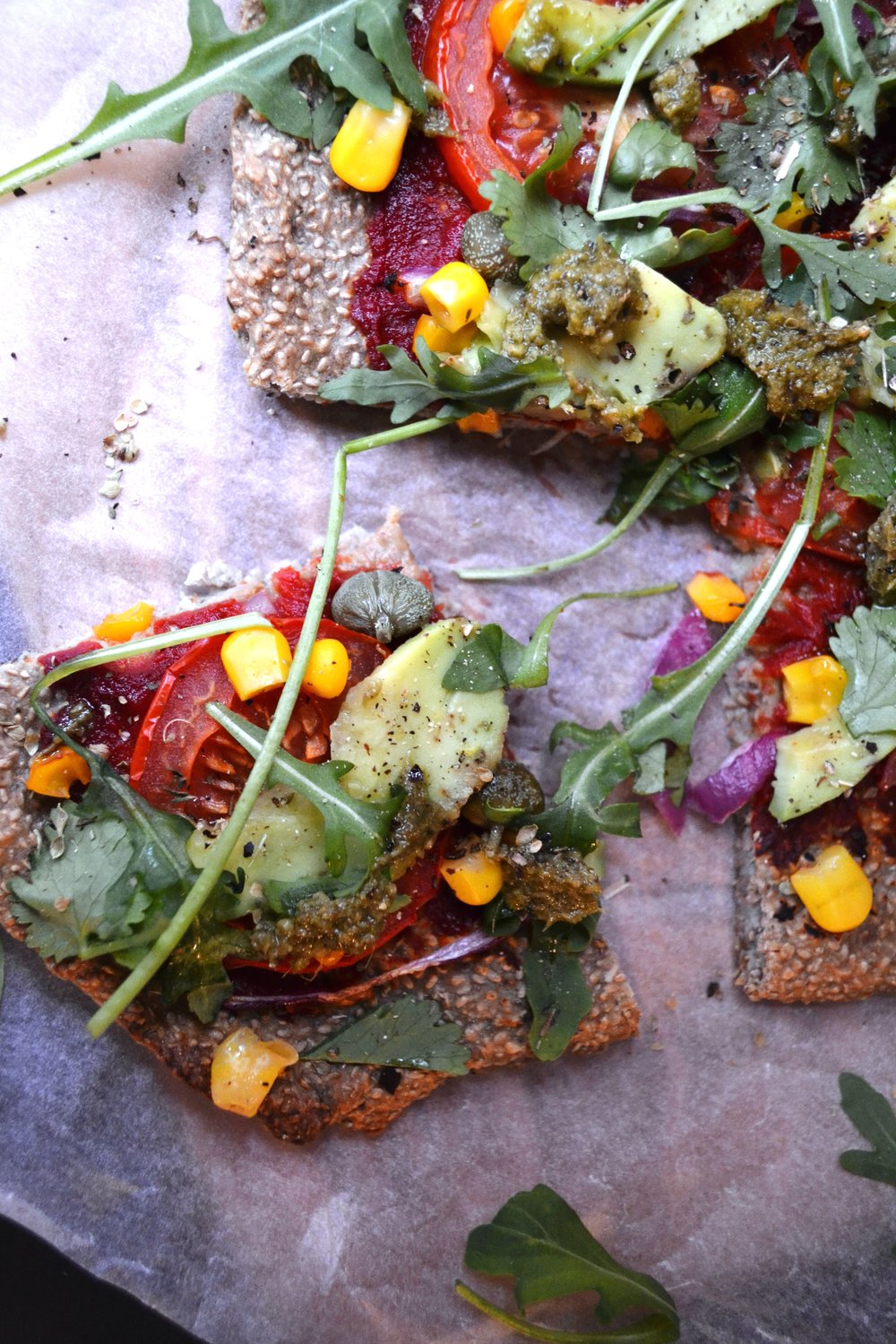 Buckwheat and chia crust pizza | The Flourishing Pantry | yeast free diet blog