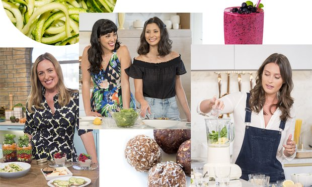 Amelia Freer, Hemsley + Hemsley and Deliciously Ella. Composite: REX/Getty Images from the Guardian.
