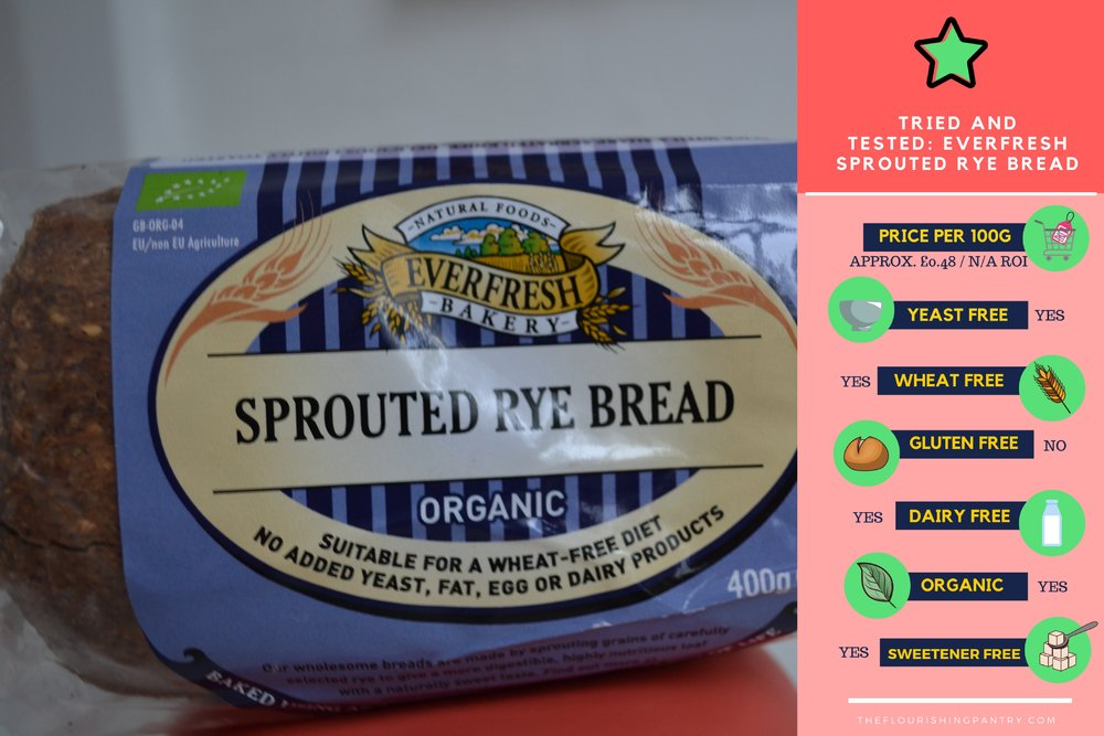 Everfresh Sprouted Rye Bread tried and tested | The Flourishing Pantry | yeast free diet blog