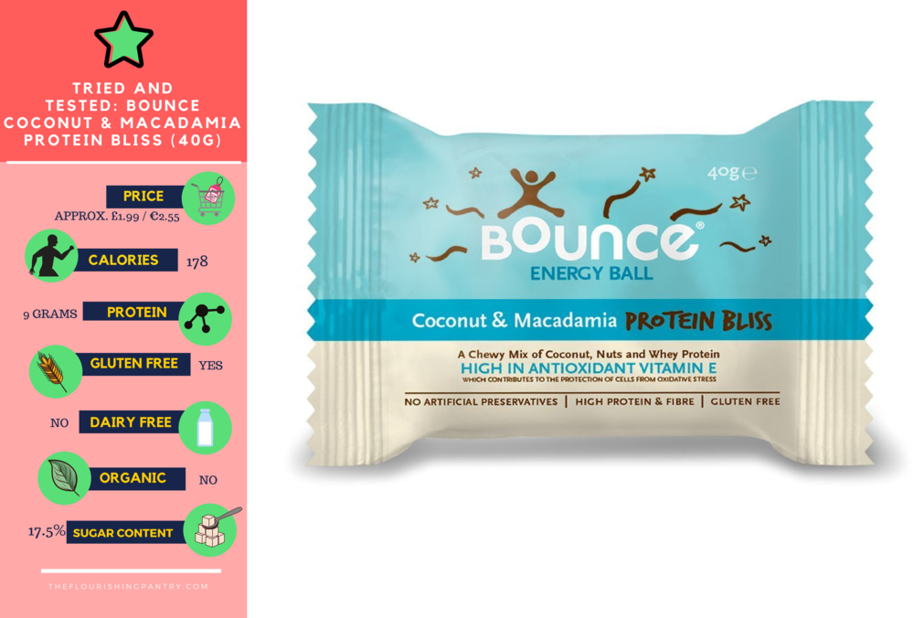 Bounce coconut and macadamia review | The Flourishing Pantry