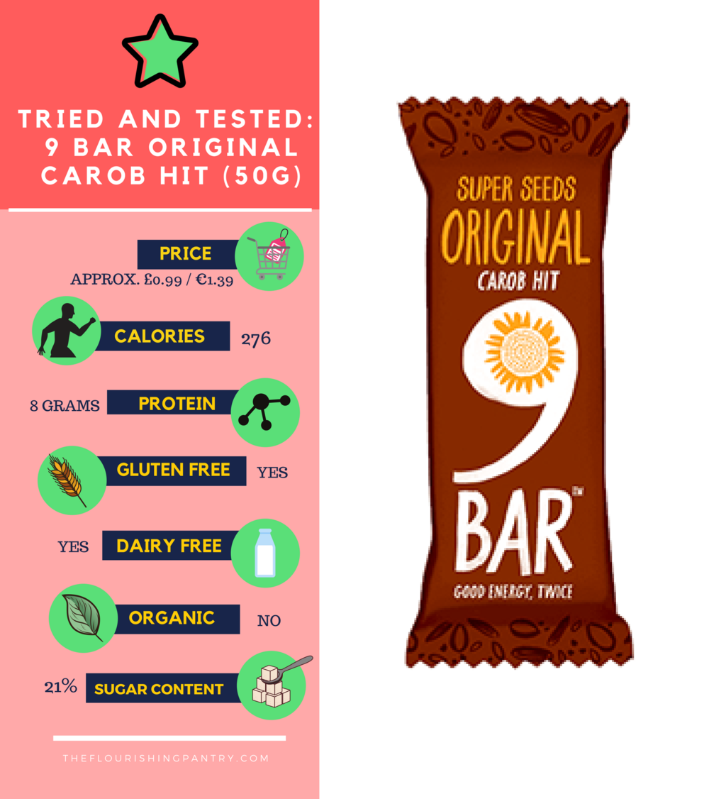 9 bar carob hit review | The Flourishing Pantry