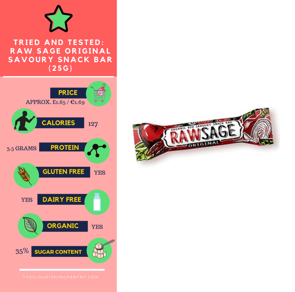 Raw Sage bar review | The Flourishing Pantry
