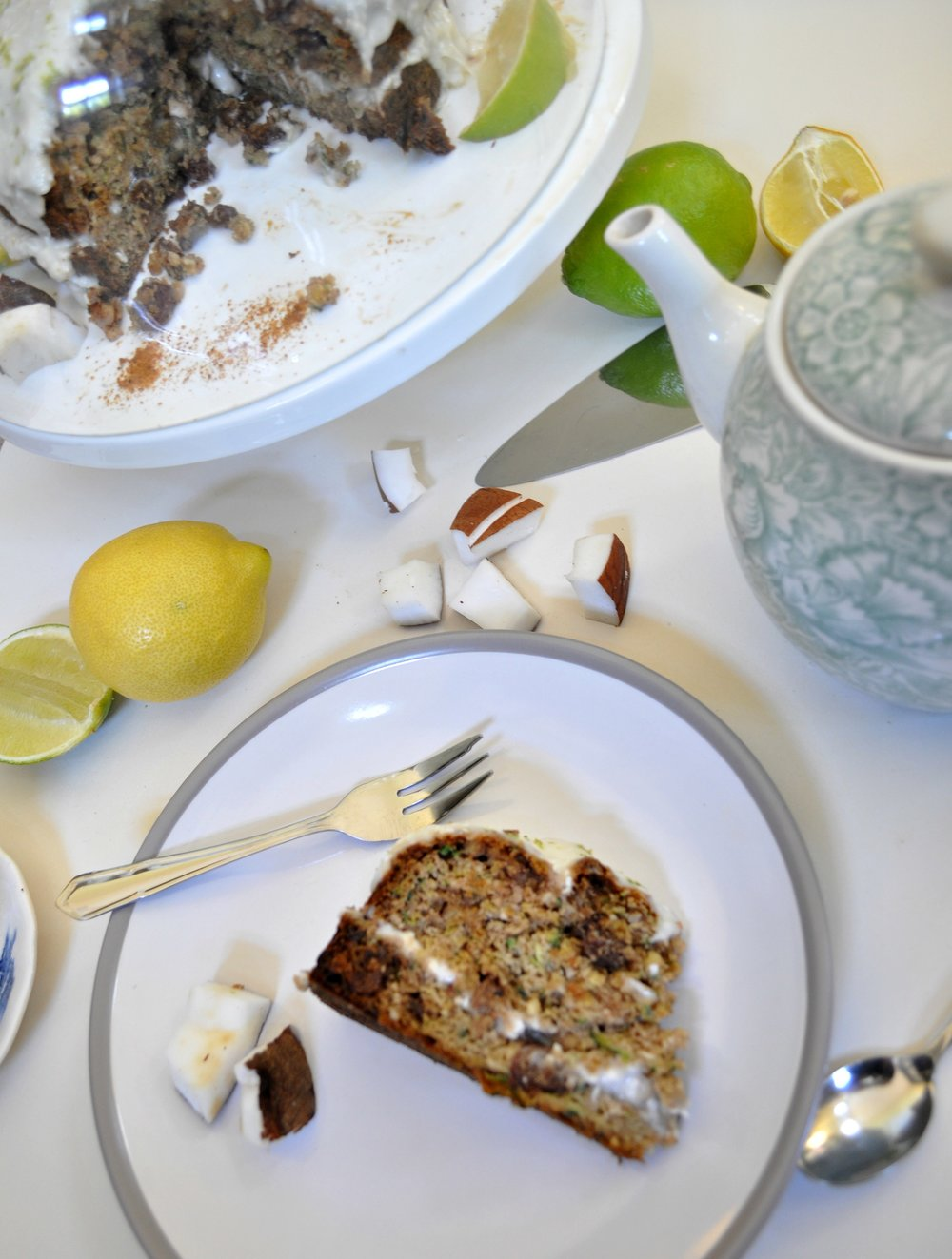 Ella Rose Courgette Cake | The Flourishing Pantry | healthy eating blog