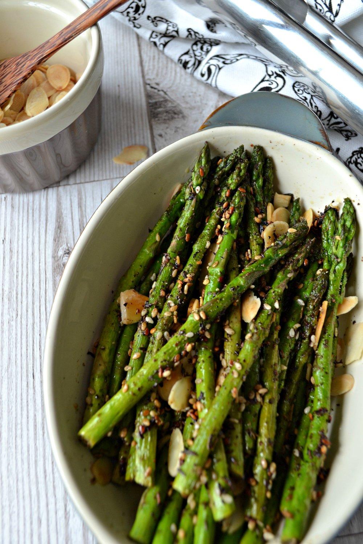Sumac asparagus | The Flourishing Pantry | healthy eating recipe blog