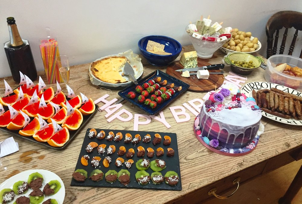 Birthday spread complete with an egg free cake from  Ella Rose Cakes !