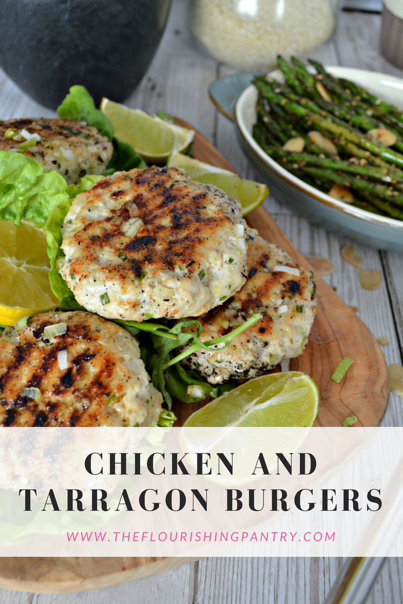 Chicken and tarragon burgers | The Flourishing Pantry | healthy eating recipes