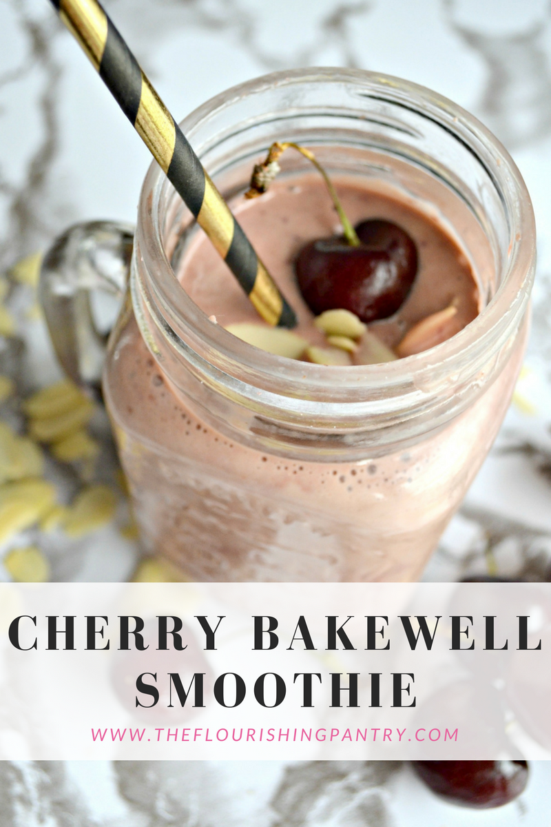 Cherry bakewell smoothie | The Flourishing Pantry | healthy eating recipe blog
