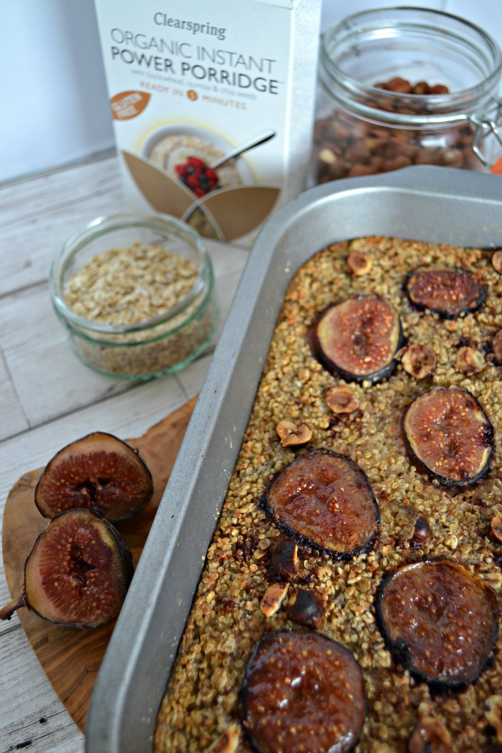 Baked fig and hazelnut oatmeal | The Flourishing Pantry