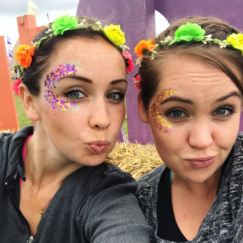 1. Glitter is amazing and instantly transforms you into a festival chick