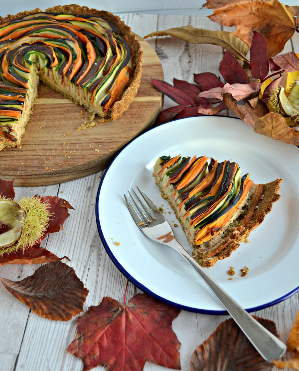 Vegetable vegan spiral tart | The Flourishing Pantry
