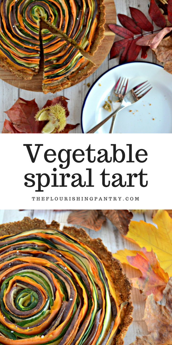 Vegetable spiral tart | The Flourishing Pantry