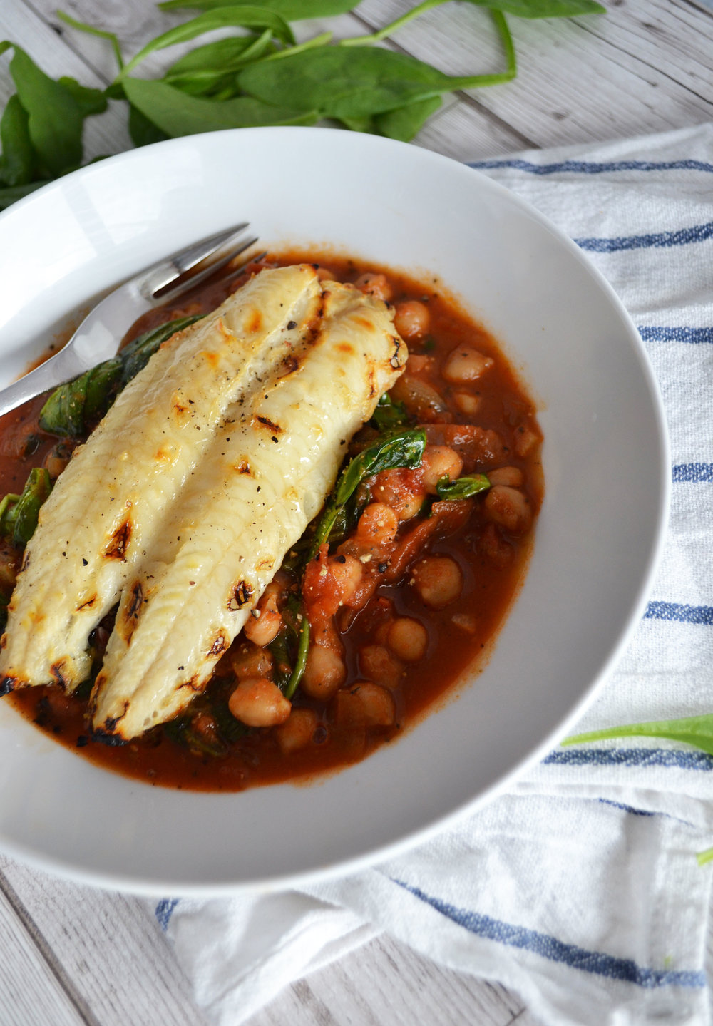 Haddock and chickpea stew | The Flourishing Pantry