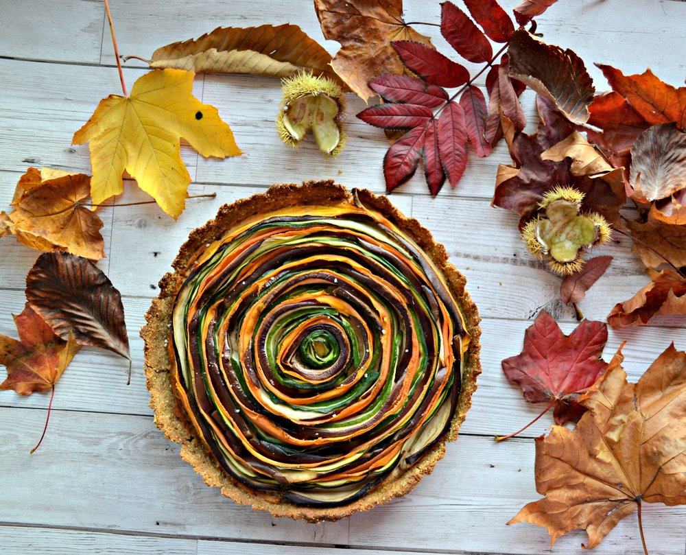 Vegan spiral tart | The Flourishing Pantry