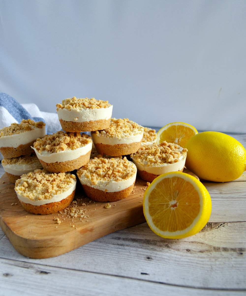Lemon crumble cheesecakes | The Flourishing Pantry