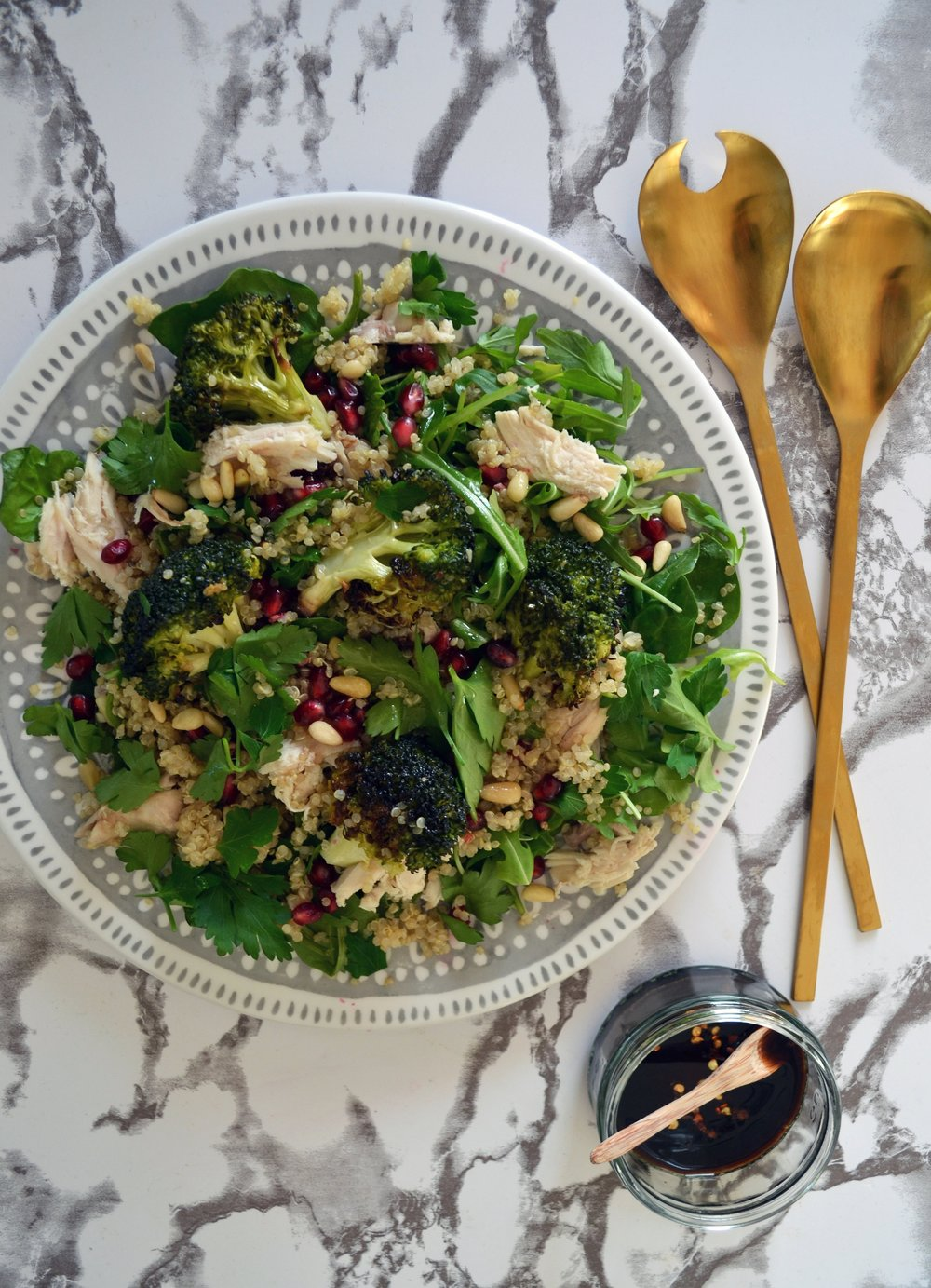 Roast chicken and broccoli salad | The Flourishing Pantry