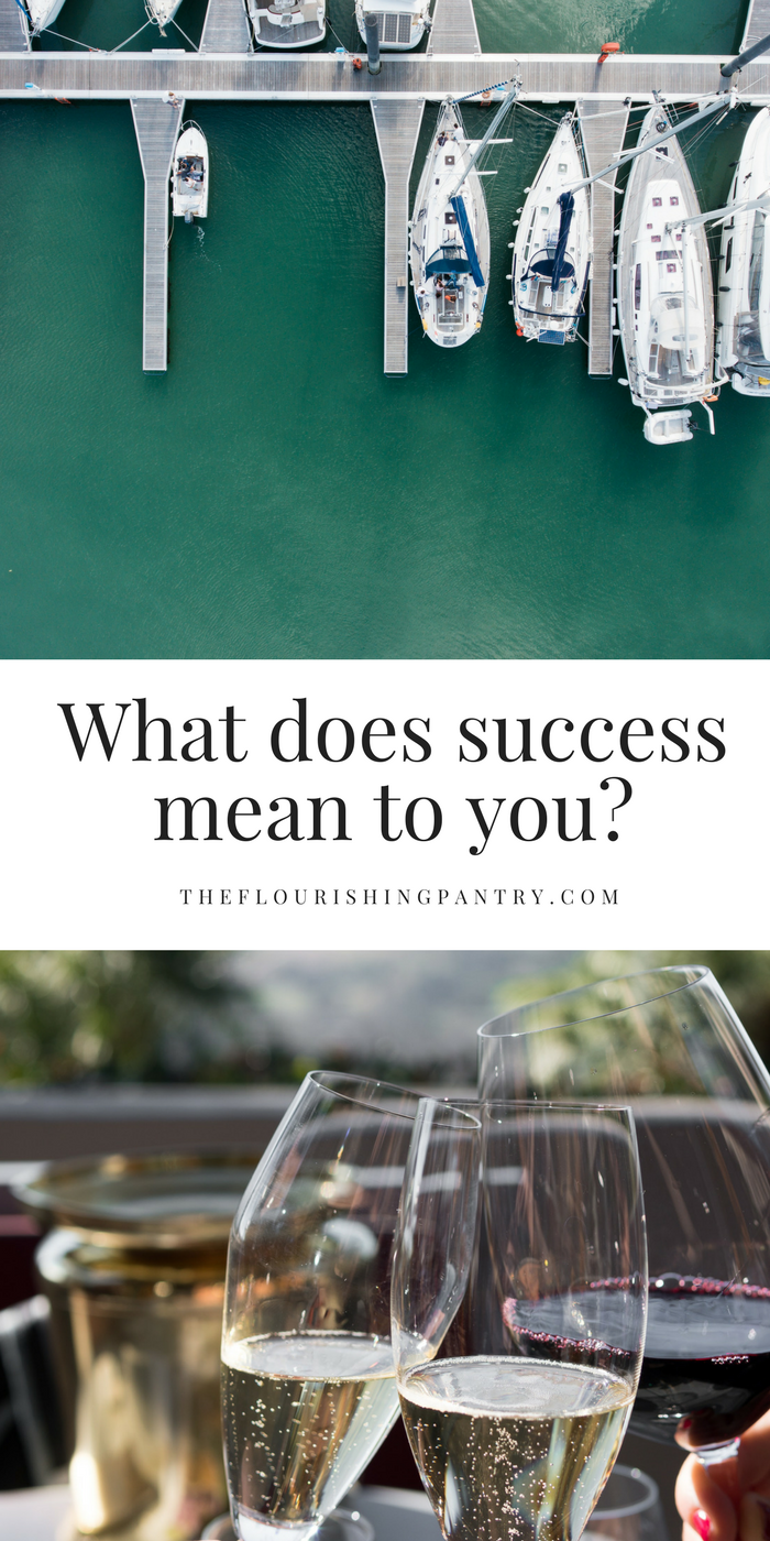 What does success mean to you