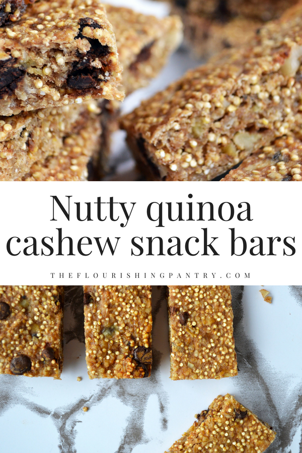 Nutty quinoa cashew snack bars | The Flourishing Pantry.png
