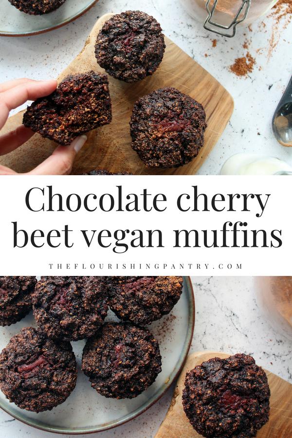 Chocolate cherry beet vegan muffins | The Flourishing Pantry.png
