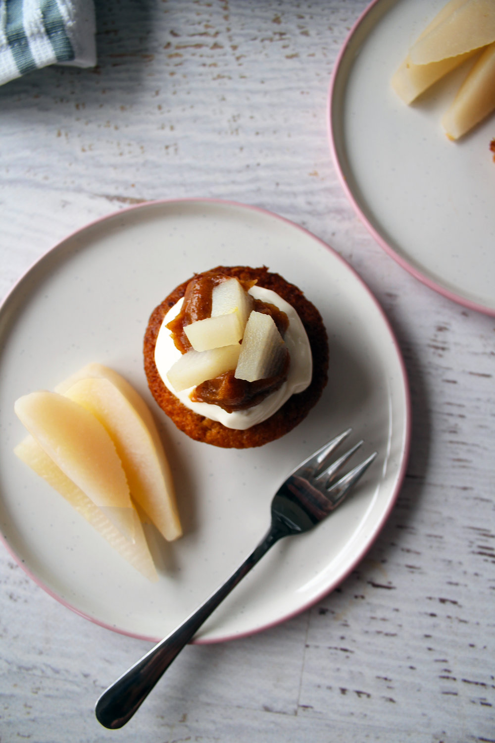 Poached pear cake from The Flourishing Pantry