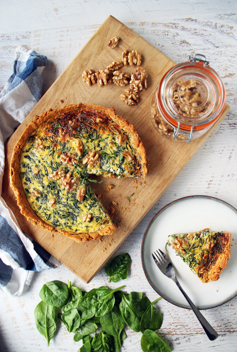 Walnut pastry quiche | The Flourishing Pantry